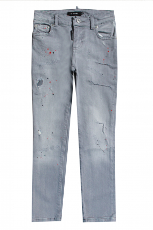PIETRO 029 DAMAGED SPOTTED JEANS