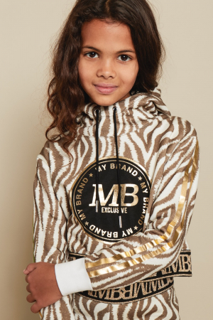 ANIMALIER CROPPED HOODIE