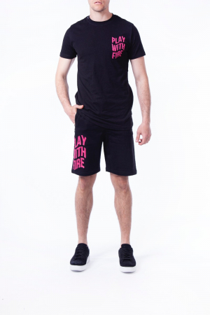 PLAY WITH FIRE LOGO SHORT PANTS