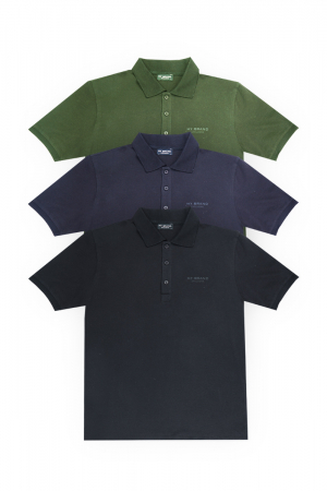 MY BRAND SQUARE BADGE POLO - 3 PACK