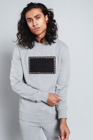 STUD BADGE SWEATER